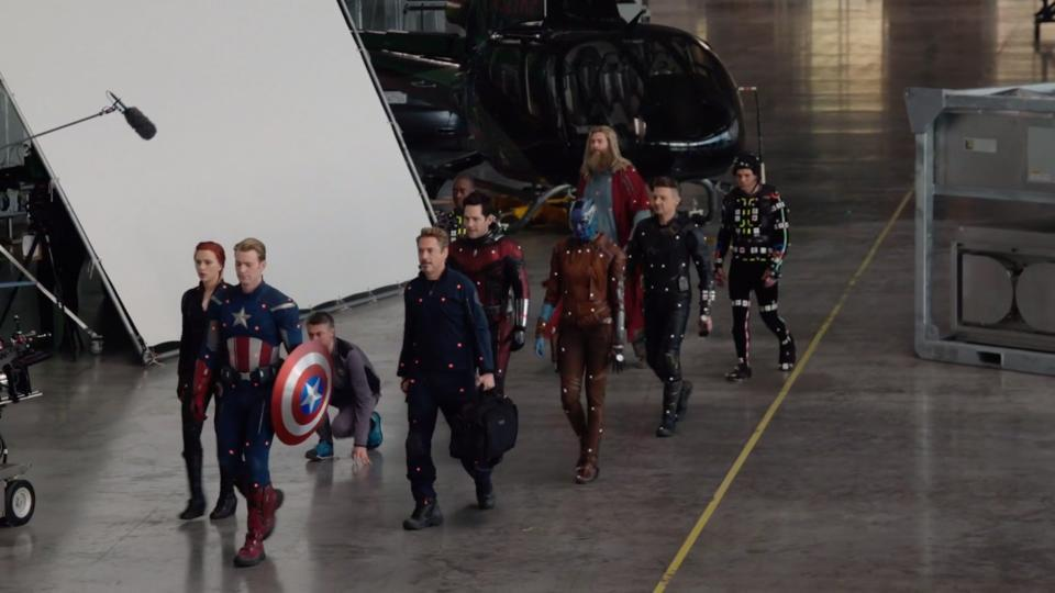 Behind the scenes shot form Avengers: Endgame