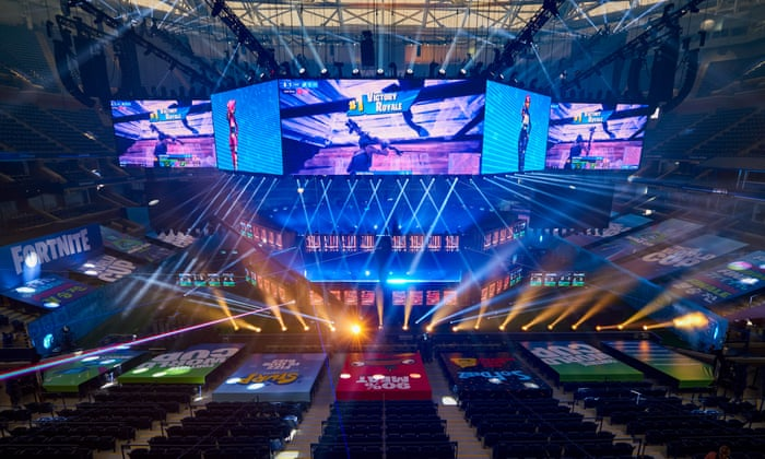 Fortnite World Cup stage in New York